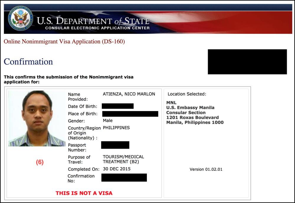 анкета ds-160 виза США