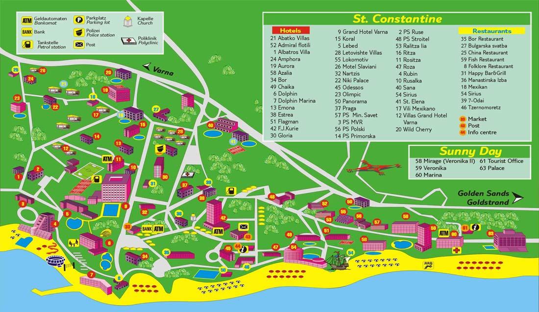 Карта Святой Константин и Елена