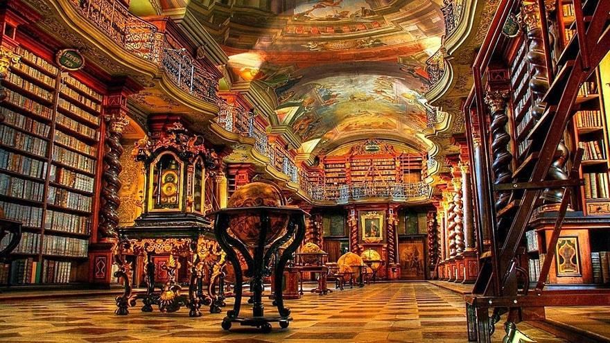 Чехия, Прага, Библиотека Клементина