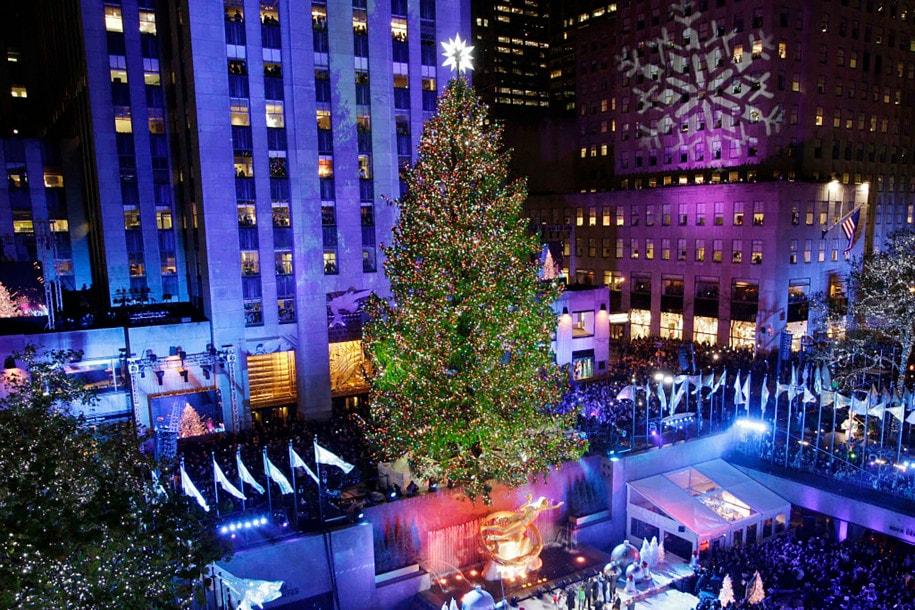 новогодняя елка в рокфеллер центре