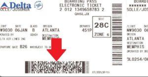 штрих код на посадочном талоне