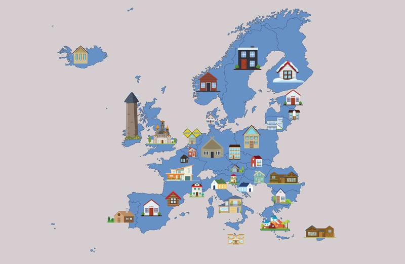 Самые популярные Airbnb в каждой стране Европы