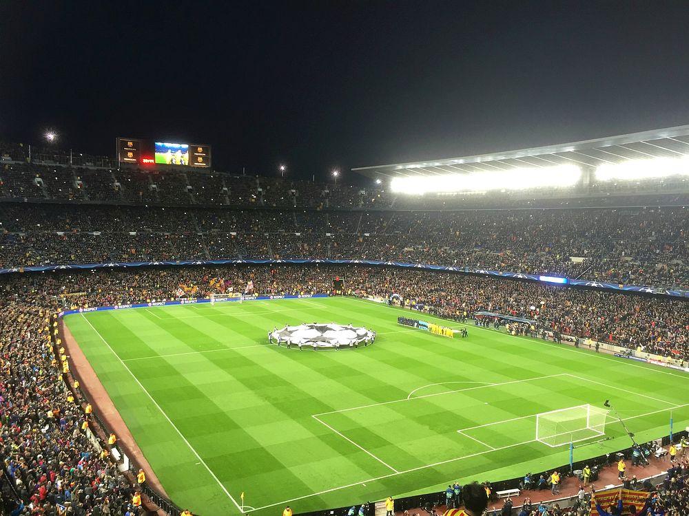 Самый большой стадион Европы Камп Ноу Барселона