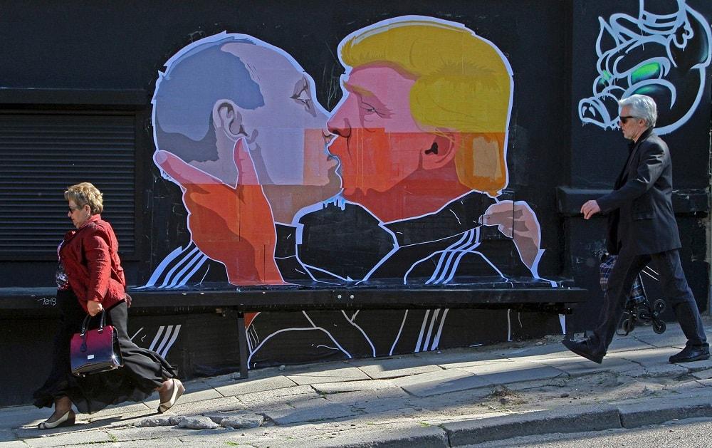 мурал Трамп и Путин